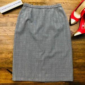 Pendleton Wool Pencil Skirt Career Houndstooth 10